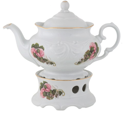 Teapot & Warmer 1150ml White