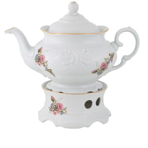 Teapot & Warmer White Gold 1150ml